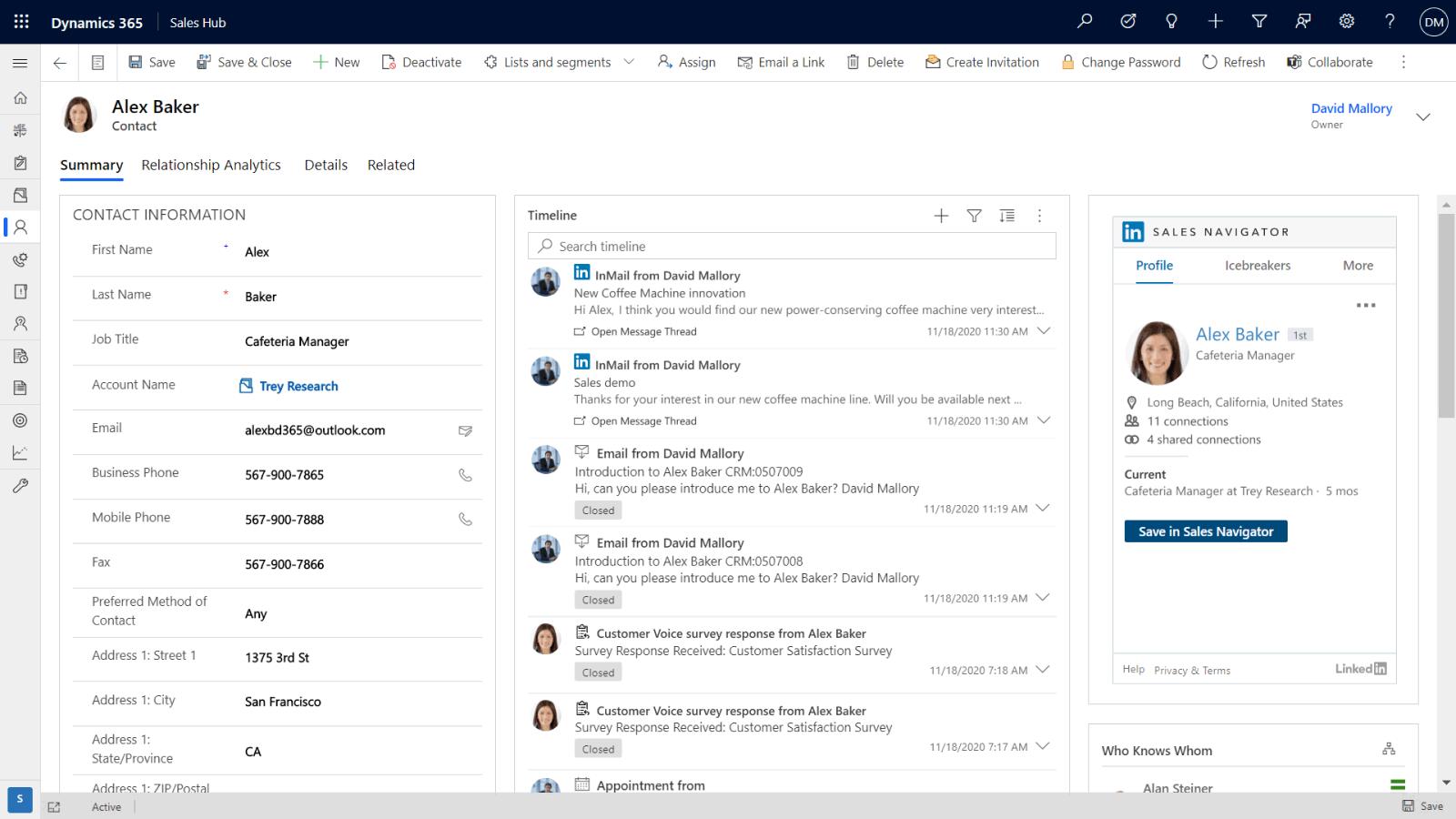 Get insights from LinkedIn Sales Navigator